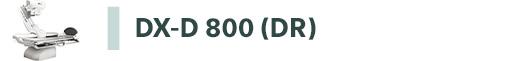 Apparecchiature diagnostiche - Link a sistema DX-D 800 DR